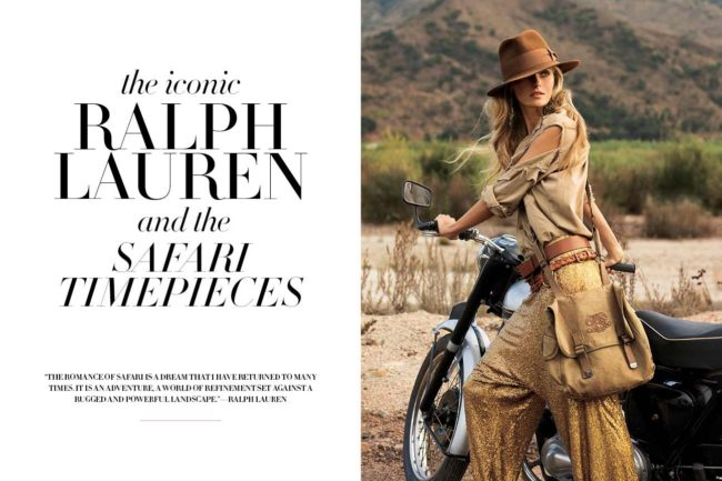 The iconic Ralph Lauren and the safari timepieces