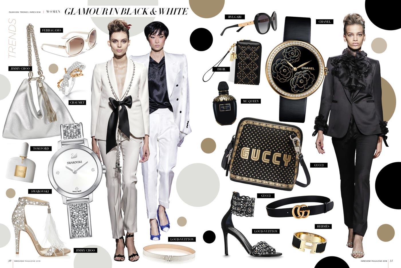 Women Glamour in Black White