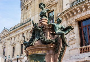 Architectural details of Opera National de Paris.