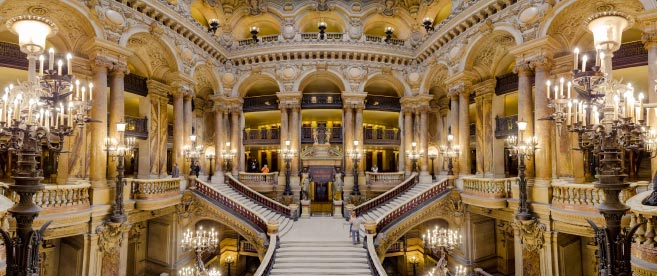Interior view of the Opera Garnier Palace