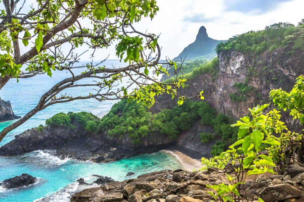 ernando de Noronha the volcanic archipelago. Distant 350 kilometers off Brazil's northeast coast.